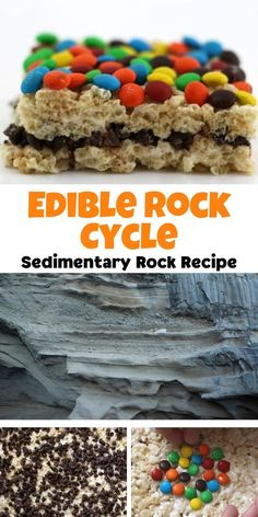 Edible science experiment for kids. Make a tasty model of Sedimentary Rock for a geology and earth science practical. Model the layers with delicious candy and learn whilst you bake. Earth Science Experiments, Earth Science Projects, Earth Science Activities, Rock Science, Science For Kids, Activities For Kids, Earth Science Lessons, Science Inquiry, Science Penguin