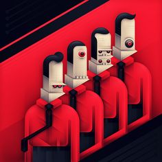 Classic Covers Recomposed by Kamil Białogrzywy, via Behance
