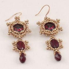 Instructions for Imperial Earrings   Beading by njdesigns1 on Etsy, $5.00