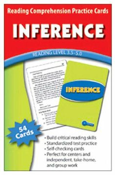 Inference Practice Cards Reading Levels 5.0-6.5 -- Case of 4 . $41.71. Inference Practice Cards Reading Levels 5.0-6.5 by EDUPRESS