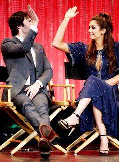 #TVD The Vampire Diaries  Ian Somerhalder(Damon) & Nina Dobrev(Elena/Katherine/Amara etc..)