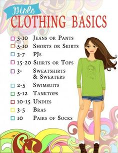 Girls Clothing Basics   This is the second in a 5-part series for girls 7-17. Clothing organization for kids. - women's clothing retailers, online clothing stores women, trending online clothing stores *ad