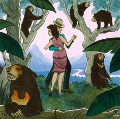 Adam McCauley Illustration | Dancing in the Jungle