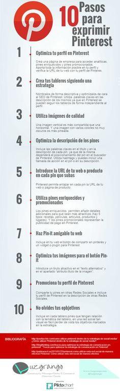 10 pasos para exprimir Pinterest #infografia