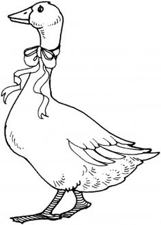 goose-with-ribbon-coloring-page.gif 258×360 pixel
