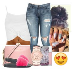 """""""✨ 4 : 05 PM ✨"""" by aaleeyahxpetty ❤ liked on Polyvore featuring Topshop, MICHAEL Michael Kors, Kate Spade, Michael Kors, shu uemura and Givenchy"""