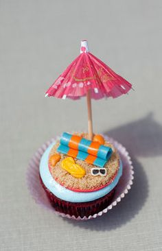 Sandy Beach Cupcake Topper by ClaudiaCupcakeLady on Etsy, $24.00