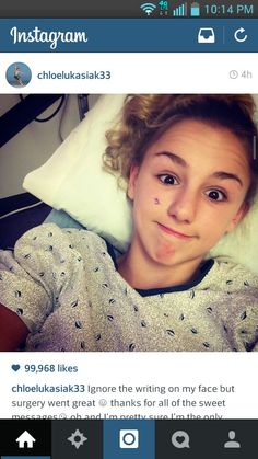 Chloe out of surgery