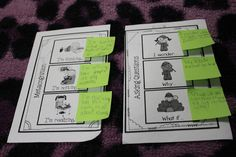 Sticky Note Jot Spots for Accountable Talk ~ I use to do this with my first graders ~ pin so I don't forget