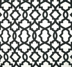 designer black white contemporary home decor fabric by the yard cotton drapery or upholstery
