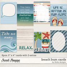 1f4eed618676 Beach Bum  Cards by lliella designs Digital Paper Freebie