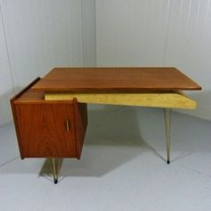 Located using retrostart.com > Writing Desk by Cees Braakman for Pastoe Writing Desk, Office Desk, 1950s, Furniture, Home Decor, Desk, Desktop, Desk Office, Decoration Home