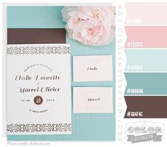 Pretty Peony - aqua, brown, peony, pink, teal - I like how shabby chic these colors are...might be good for twins' room if we swap brown for a light grey?