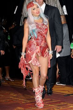 See What Lady Gaga's Meat Dress Looks Like Now — 5 Years Later