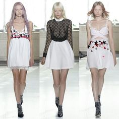 #Giamba SS16 RTW #Collections  Mr @giambattistapr still continue his younger brand collections to make so girly clothes, red-white-blue striped sequin hot pants, red-painted fingernails on embroidered hands, the sequined stars, daisies, planets, and hearts  #Model : middle #MarjanJonkman  #Designer #MFW #MilanFashionWeek #Zackylicious