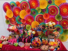 Fiesta Dessert Table by Sweet Rubia