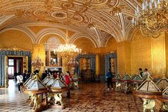 Winter Palace-Interior of the State Hermitage Museum in Saint Petersburg, Russia