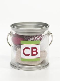 Holiday Collection Cyndi Bands mini holiday paint tin with 6 Christmas color elastic hair ties