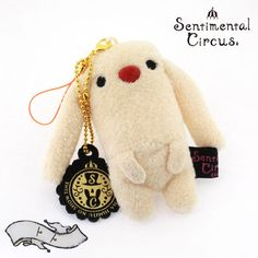 sentimental circus toto plush cell phone charm