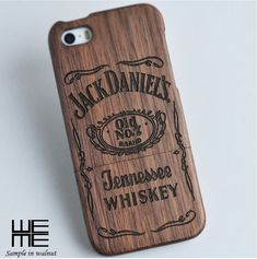 jack daniels wooden iphone case
