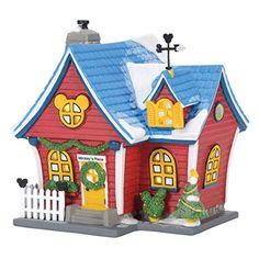 Disney Christmas Village, Disney Village, Department 56 Christmas Village, Disney Christmas Decorations, Mickey Christmas, A Christmas Story, Christmas Home, Xmas, Mickey House