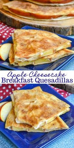 Do you love quesadillas We do too and weve finally found the perfect way to fix them for breakfast even dessert with these totally addictive Apple Cheesecake Breakfast Qu. Breakfast Party, What's For Breakfast, Breakfast Dishes, Breakfast Recipes, Mexican Breakfast, Recipes For Breakfast Quesadillas, Breakfast With Apples, Breakfast Tortilla, Breakfast Dessert