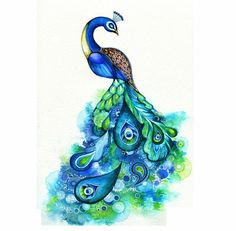 Love peacocks! Would love to get one tattooed!!