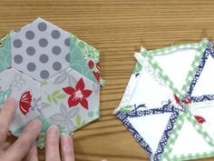 English Paper Piecing with Carolyn Beam on Quilters Newsletter TV: The Quilters' Community, sponsored by Husqvarna Viking