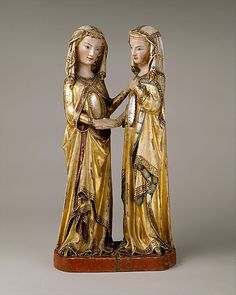 The Visitation    Attributed to Master Heinrich of Constance (German, active in Constance, ca. 1300)    Date: ca. 1310–20    The Metropolitan Museum of Art