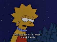 No friends simpsons