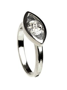 Silver Eye Ring from House of Harlow@Kelsey Moore
