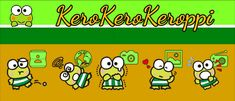 Keroppi Theme – SatiaSite.wordpress.com Keroppi Wallpaper, Cute Characters, Sanrio, Peanuts Comics, Hello Kitty, Banner, Wordpress, Android, Art