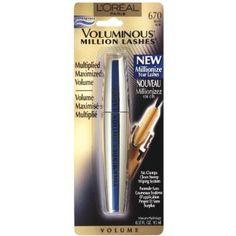 Buying Review L'Oreal Voluminous Million Lashes Waterproof Mascara, Black, 0.32 Fluid Ounce (9.5 ml)