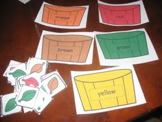 Leaf sorting Sorting Activities, Activities For Kids, Crafts For Kids, Preschool Ideas, Teaching Ideas, Sensory Bins, Preschool Learning, Autumn Theme, Classroom Themes