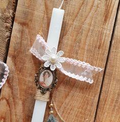 Χειροποίητη Λαμπάδα με δαντέλα και διακοσμητικά Accessories, Jewelry Accessories