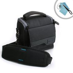 USA Gear Impact-Resistant Camera Utility Case - Works With Sony Alpha a6000 , a5000 , NEX-5T , NEX-3N , NEX-6 , W800 and Many More Digital Cameras! **Includes Lens Cap Lanyard & Cleaning Cloth** - For Sale
