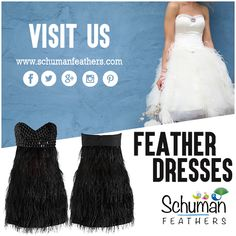 Give a distinct touch to your fashionable personality with #feather #dress