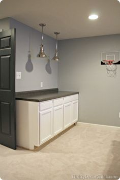 A tutorial on how to build a #basement #kitchenette. #DIY