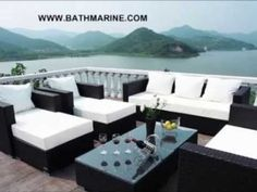 BATHMARINE.ES MUEBLES RATTAN SINTÉTICO Jardin Baratos Exterior Sofas Sil... Rattan Garden Furniture, Solid Wood Furniture, Rustic Furniture, Living Room Furniture, Outdoor Furniture, Outdoor Decor, Folding Chair, House Decorations, Valencia