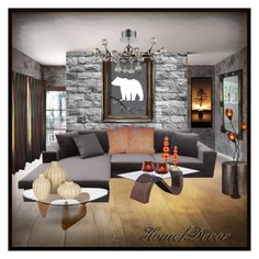 Home/Decor by eco-art on Polyvore featuring interior, interiors, interior design, home, home decor, interior decorating, Zuo, ELK Lighting, Benzara and WALL