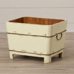 Found it at Wayfair - Square Sink with Iron Handles