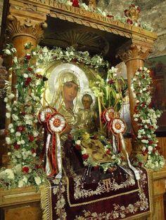 Blessed Mother, Kirchen, Greek Islands, Jesus Christ, Catholic, Mosaic, Religion, Christmas Tree, Holiday Decor