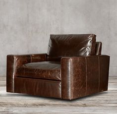 Maxwell Leather Swivel Chair $1772 down, italian brompton cocoa