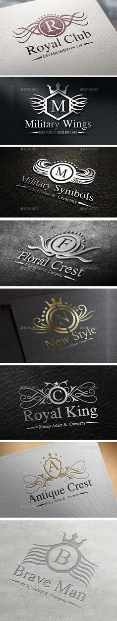 Heraldic Crest Logos #design Download: http://graphicriver.net/item/heraldic-crest-logos-vol-2/12175271?ref=ksioks