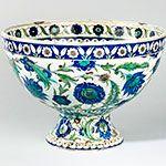 Cantagalli Iznik-style Footed Bowl