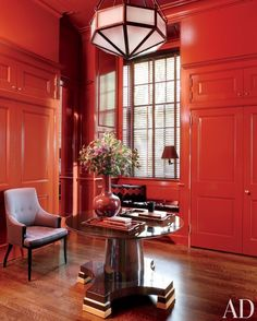 Red Paint Room Ideas and Inspiration Photos | Architectural Digest