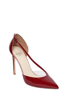 FRANCESCO RUSSO 105Mm Asymmetric Patent Leather Pumps 3c96c89905341
