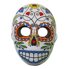 Day Of The Dead Masquerade Mask With Flower Design