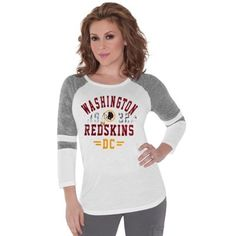 Meesh & Mia Washington Redskins Women's Heather Top with Lace ...