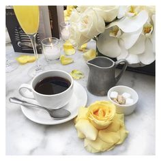 coffee and flowers and brunches